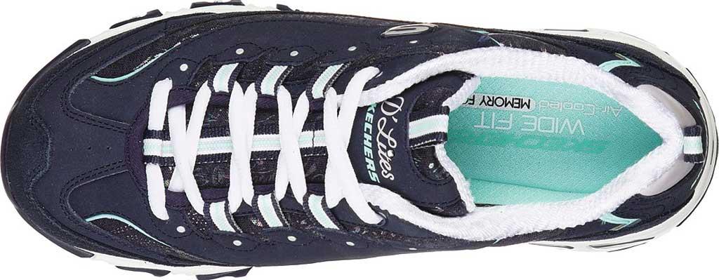 Women's Skechers D'Lites Sparkling Rain Sneaker, , large, image 4