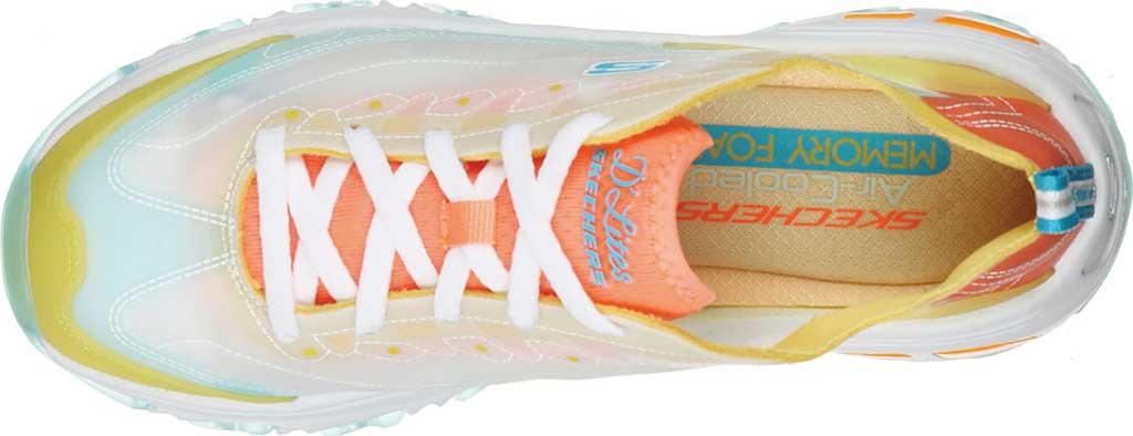 Women's Skechers D'Lites Fresh Air Sneaker, Yellow/Multi, large, image 4