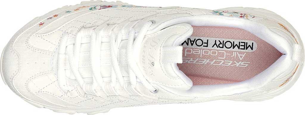 Women's Skechers D'Lites Floral Motion Sneaker, White, large, image 4