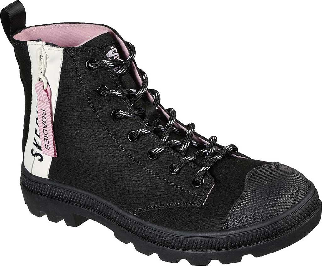 Women's Skechers Roadies Miss Military Vegan High Top Sneaker, Black/Black, large, image 1