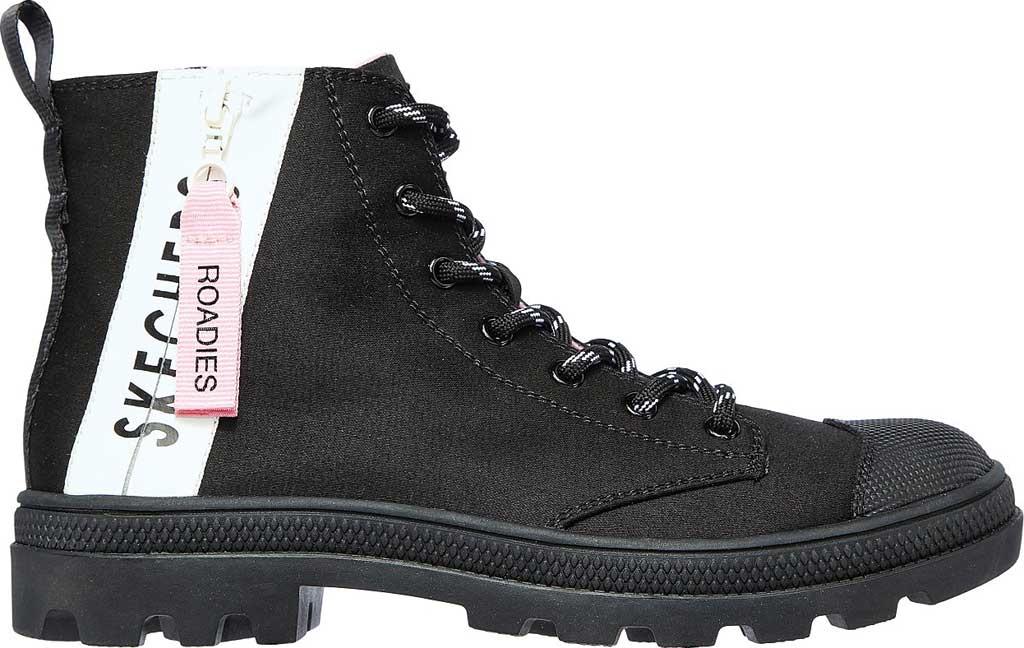 Women's Skechers Roadies Miss Military Vegan High Top Sneaker, Black/Black, large, image 2