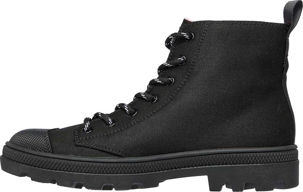 Women's Skechers Roadies Miss Military Vegan High Top Sneaker, Black/Black, large, image 3