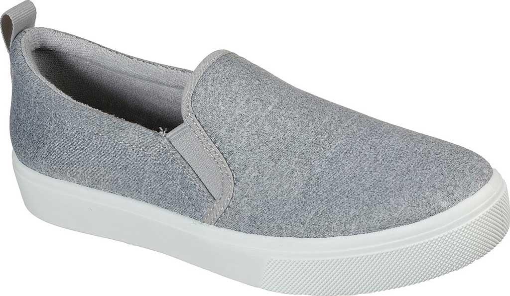 Women's Skechers Poppy Lite Shadez Slip On Sneaker, Gray, large, image 1