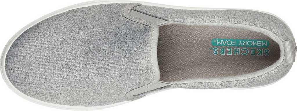 Women's Skechers Poppy Lite Shadez Slip On Sneaker, Gray, large, image 4