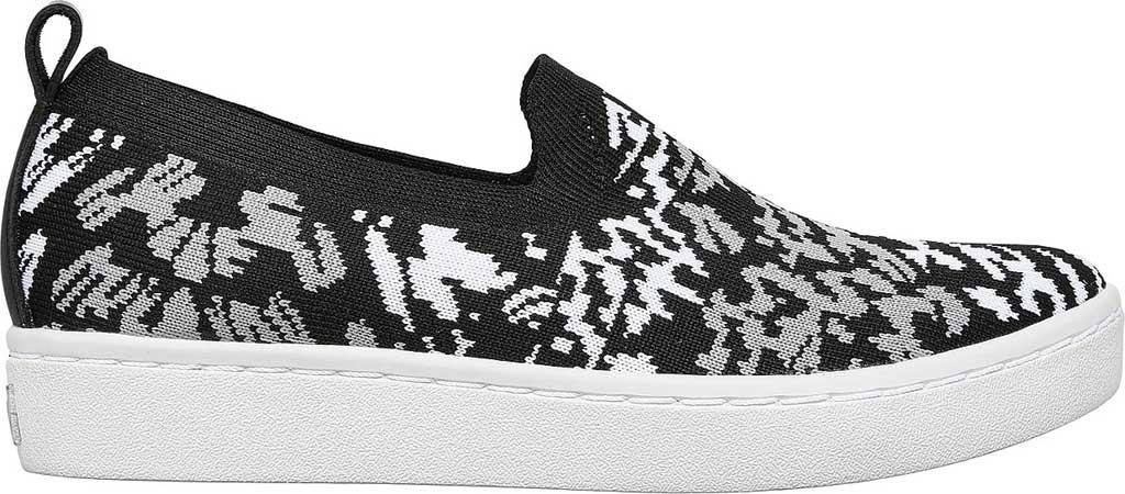 Women's Skechers Arch Fit Cup Fiercely Sneaker, Black/White, large, image 2