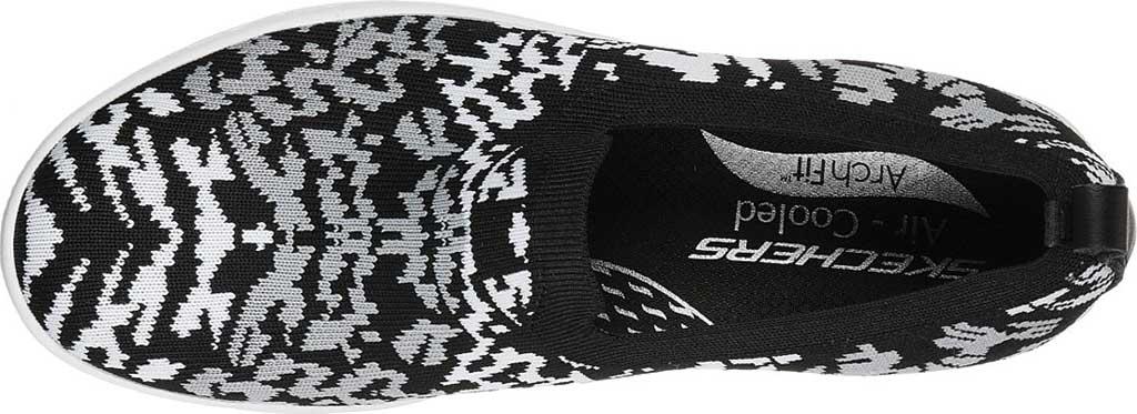 Women's Skechers Arch Fit Cup Fiercely Sneaker, Black/White, large, image 4