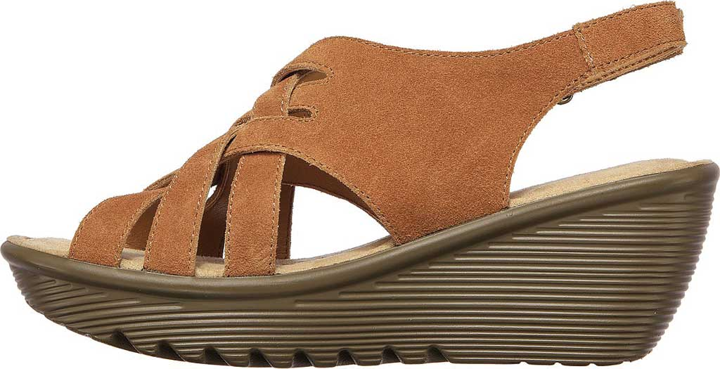 Women's Skechers Parallel Love Song Wedge Slingback Sandal, Chestnut, large, image 3