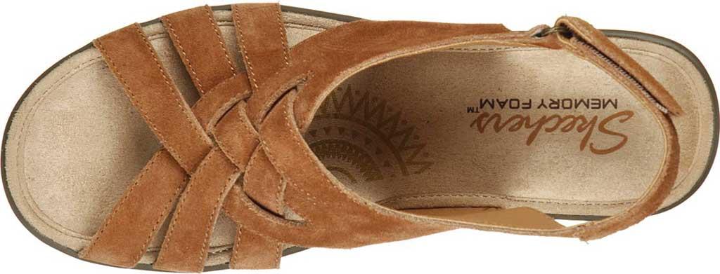 Women's Skechers Parallel Love Song Wedge Slingback Sandal, Chestnut, large, image 5