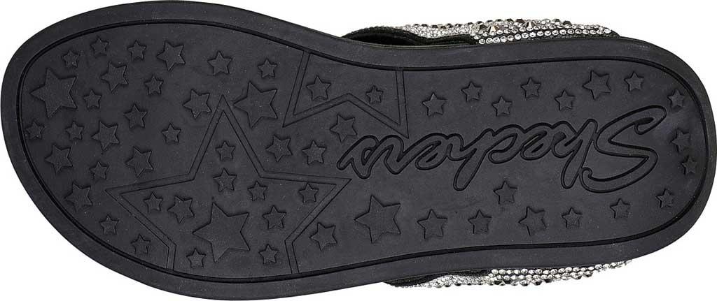 Women's Skechers Arch Fit Retrogrades Thong Sandal, Black, large, image 5
