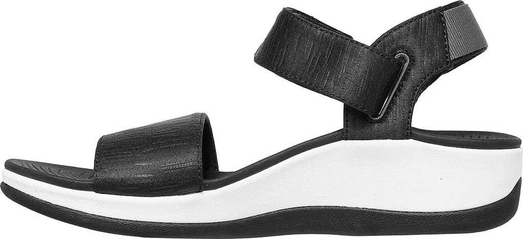 Women's Skechers Arch Fit Sunshine Wedge Vegan Strappy Sandal, Black, large, image 3