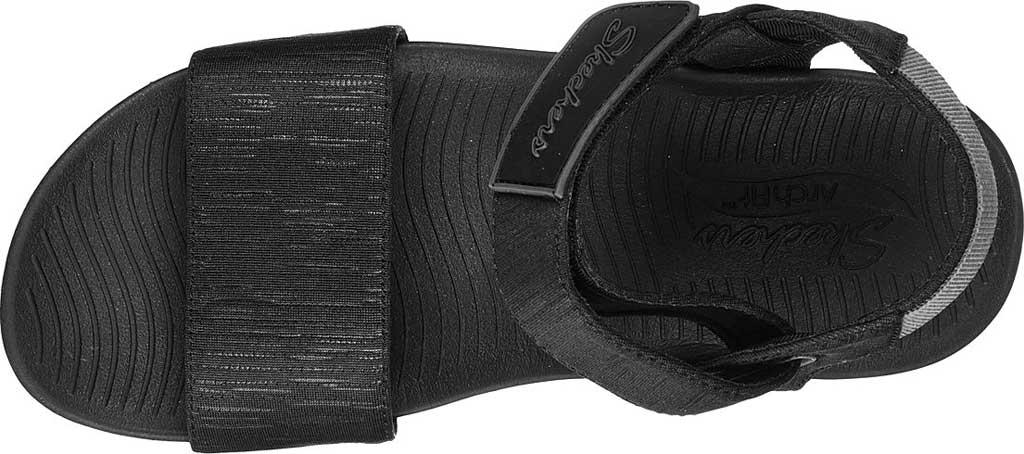 Women's Skechers Arch Fit Sunshine Wedge Vegan Strappy Sandal, Black, large, image 4