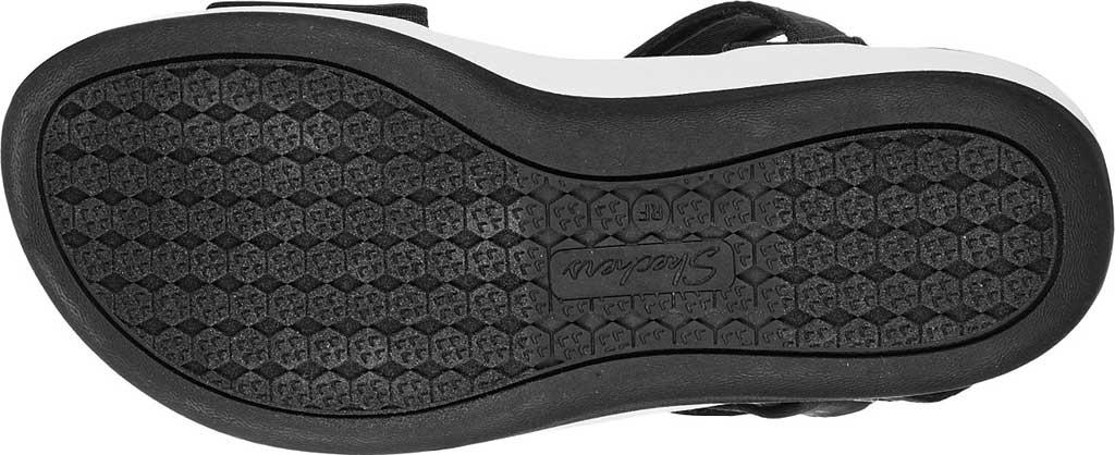 Women's Skechers Arch Fit Sunshine Wedge Vegan Strappy Sandal, Black, large, image 5