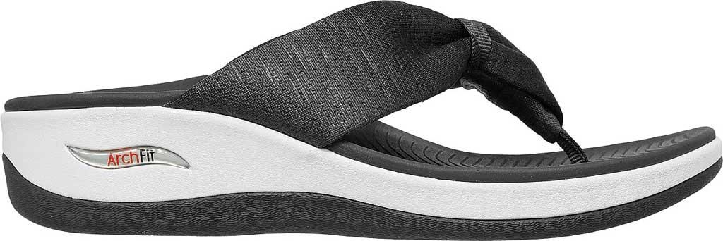Women's Skechers Arch Fit Sunshine My Life Vegan Thong Sandal, Charcoal, large, image 2