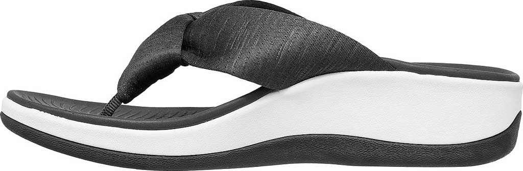 Women's Skechers Arch Fit Sunshine My Life Vegan Thong Sandal, Charcoal, large, image 3