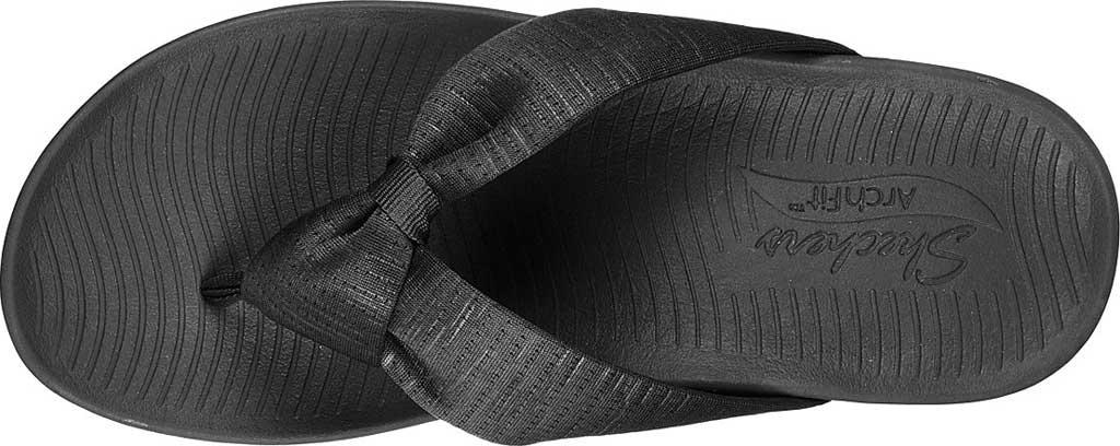 Women's Skechers Arch Fit Sunshine My Life Vegan Thong Sandal, Charcoal, large, image 4