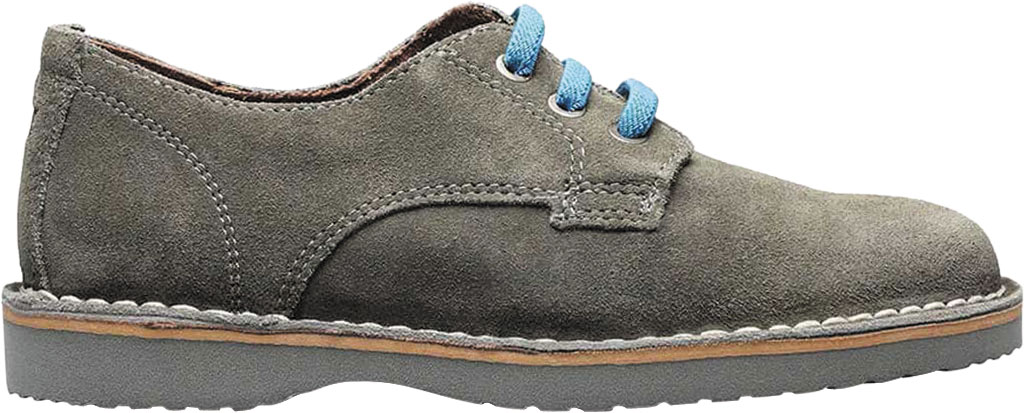 Boys' Florsheim Navigator Plain Toe Oxford Jr., Gray Leather, large, image 2