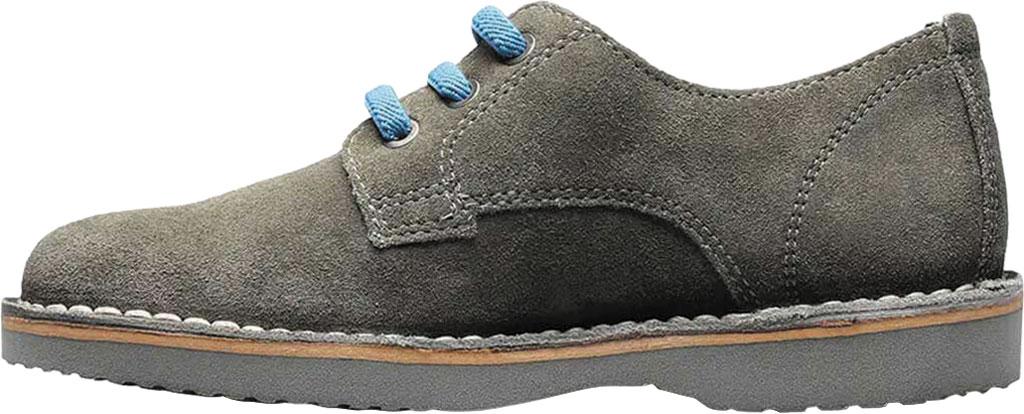 Boys' Florsheim Navigator Plain Toe Oxford Jr., Gray Leather, large, image 3