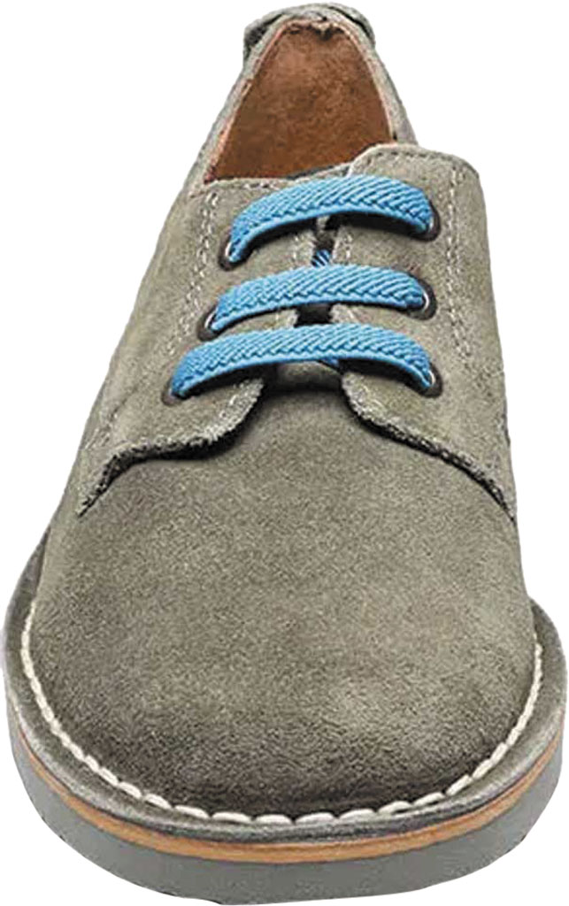 Boys' Florsheim Navigator Plain Toe Oxford Jr., Gray Leather, large, image 4