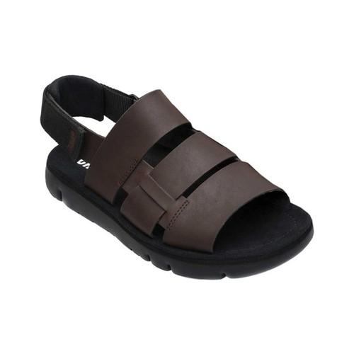 Men's Camper Oruga Sandal, Dark Brown/Black Full Grain/Technical Fabric, large, image 1