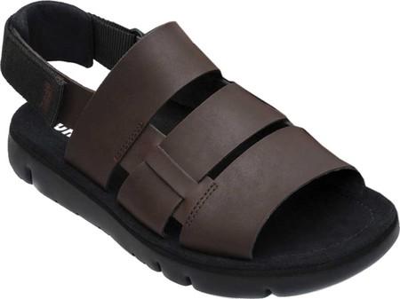 Men's Camper Oruga Sandal, Dark Brown/Black Full Grain/Technical Fabric, large, image 2
