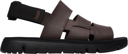 Men's Camper Oruga Sandal, Dark Brown/Black Full Grain/Technical Fabric, large, image 3