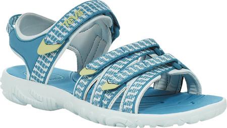 Children's Teva Tirra Sport Sandal - Big Kid, Falls Algiers Blue Textile/Synthetic, large, image 2