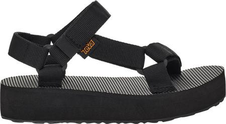 Children's Teva Midform Universal Flatform Strappy Sandal, Black Textile, large, image 3