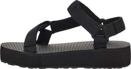 Children's Teva Midform Universal Flatform Strappy Sandal, Black Textile, large, image 4
