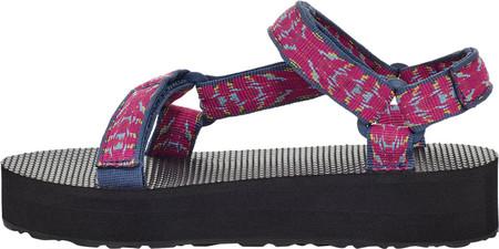 Children's Teva Midform Universal Flatform Strappy Sandal, Triton Raspberry Sorbet Textile, large, image 4