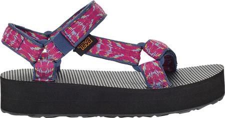 Children's Teva Midform Universal Flatform Strappy Sandal, Triton Raspberry Sorbet Textile, large, image 3