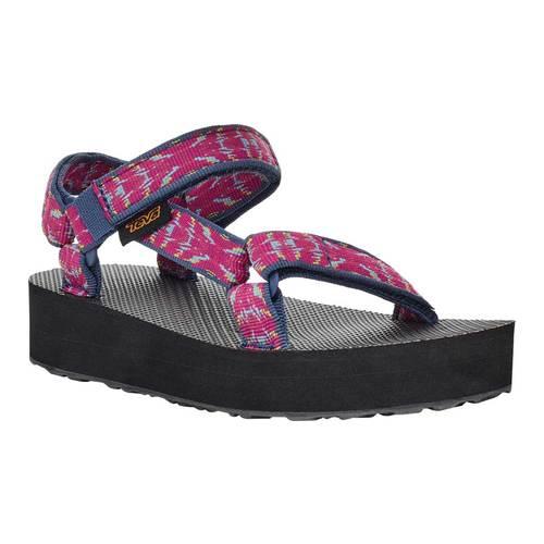 Children's Teva Midform Universal Flatform Strappy Sandal, Triton Raspberry Sorbet Textile, large, image 1