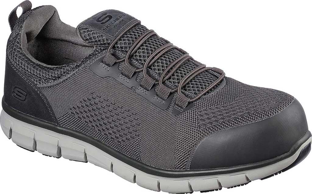 Men's Skechers Work Synergy Omat Alloy Toe Shoe, , large, image 1