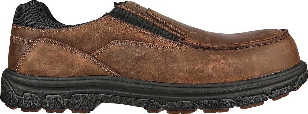 Men's Skechers Work Vicksburk Rubustle Composite Toe Loafer, Chocolate Dark Brown, large, image 2
