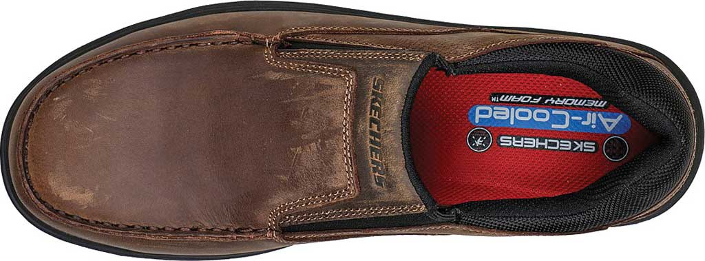 Men's Skechers Work Vicksburk Rubustle Composite Toe Loafer, Chocolate Dark Brown, large, image 4