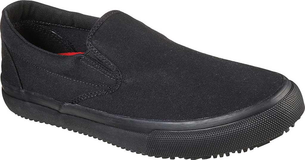 Men's Skechers Delvee Bitalo Slip Resistant Work Sneaker, Black/Black, large, image 1