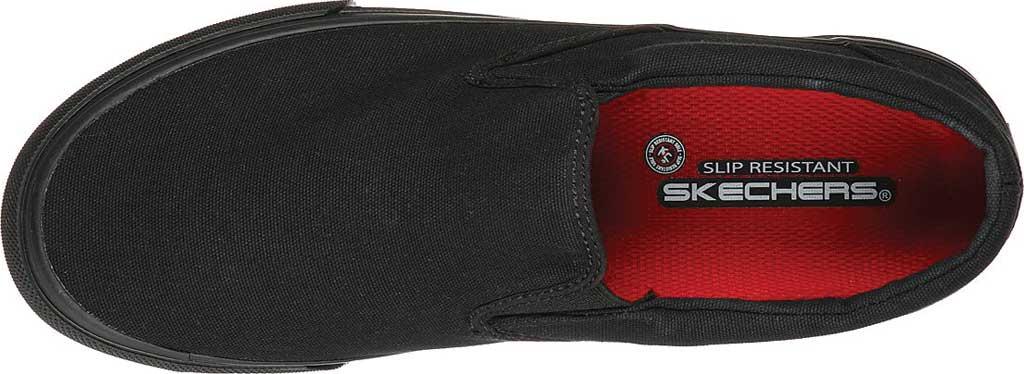 Men's Skechers Delvee Bitalo Slip Resistant Work Sneaker, Black/Black, large, image 4