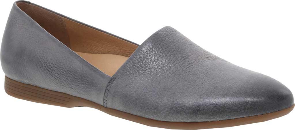 Women's Dansko Larisa Slip On Flat, Pewter Metallic Distressed Leather, large, image 1