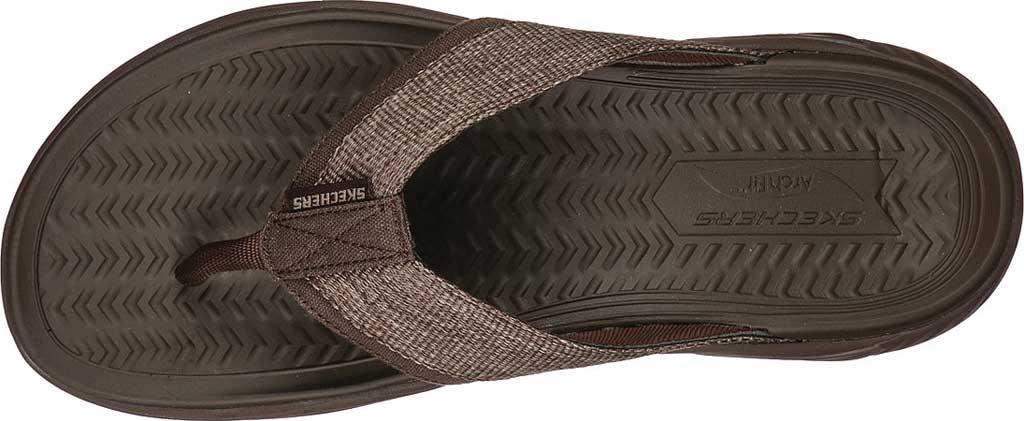 Men's Skechers Arch Fit Motley SD Dolano Vegan Flip Flop, Chocolate, large, image 4