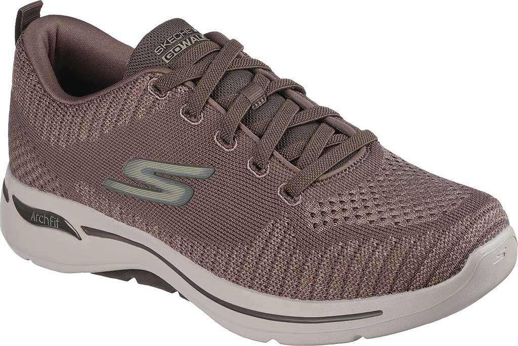 Men's Skechers GOwalk Arch Fit Grand Select Running Sneaker, Taupe, large, image 1
