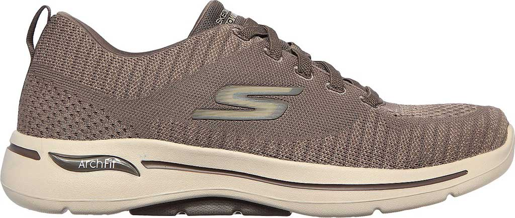 Men's Skechers GOwalk Arch Fit Grand Select Running Sneaker, Taupe, large, image 2