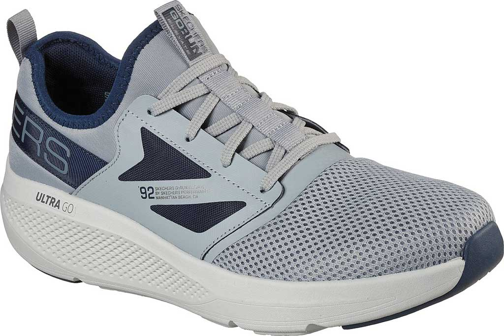 Men's Skechers GOrun Elevate Ultimate Valor Sneaker, Gray/Navy, large, image 1