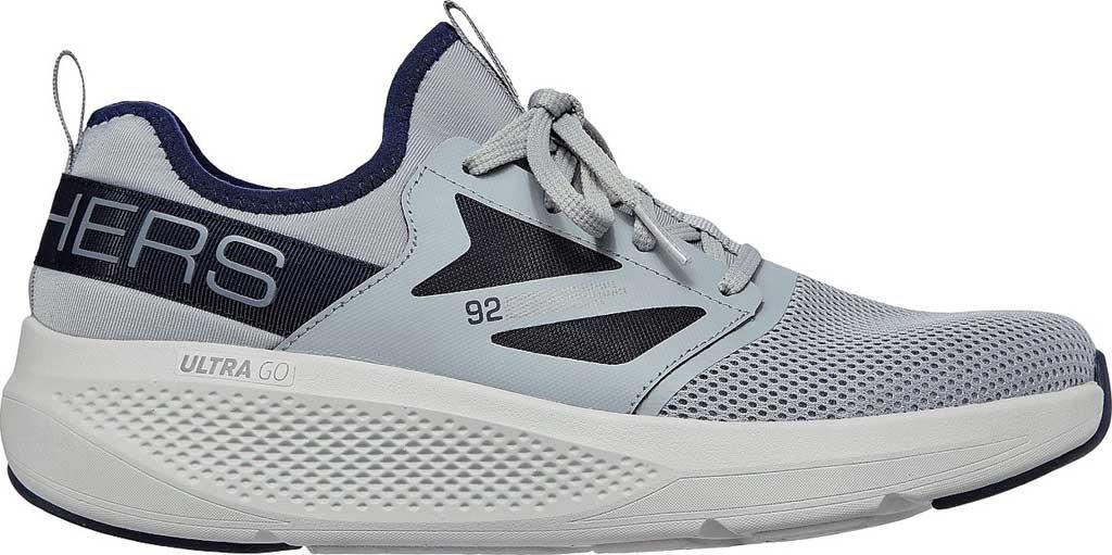 Men's Skechers GOrun Elevate Ultimate Valor Sneaker, Gray/Navy, large, image 2