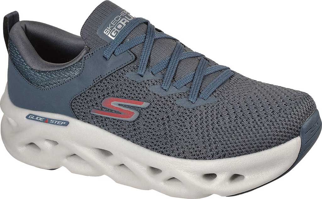 Men's Skechers GOrun Glide Step Max Dash Charge Sneaker, Charcoal, large, image 1
