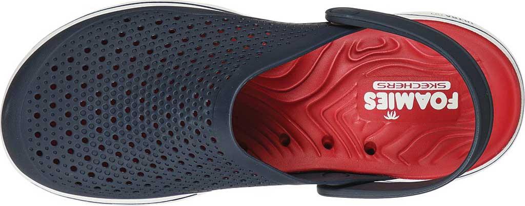 Men's Skechers Foamies GOwalk 5 Astonished Clog, Navy/Red, large, image 4