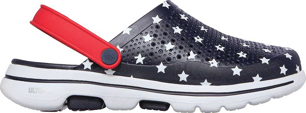 Men's Skechers Foamies GOwalk 5 Stars and Stripes Clog, Navy/Red, large, image 2