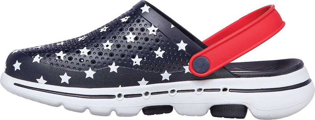 Men's Skechers Foamies GOwalk 5 Stars and Stripes Clog, Navy/Red, large, image 3