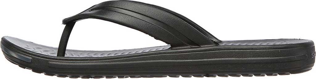 Men's Skechers Foamies Sandbar Chillax Flip Flop, Black, large, image 3