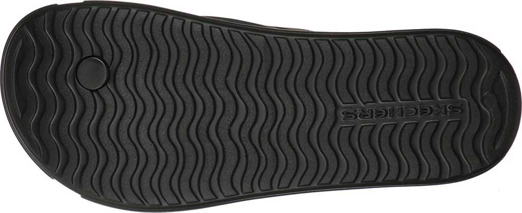 Men's Skechers Foamies Sandbar Chillax Flip Flop, Black, large, image 5