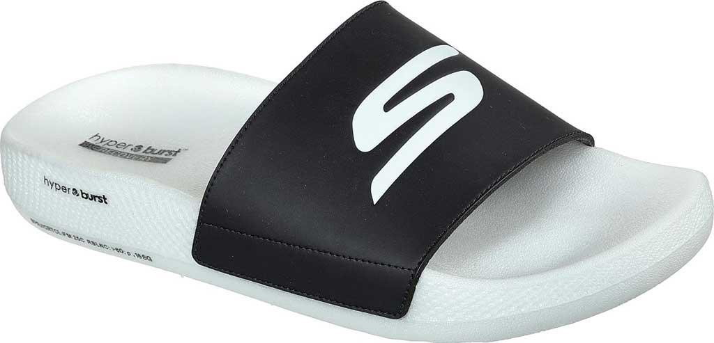Men's Skechers Hyper Slide - Deriver, Black/White, large, image 1