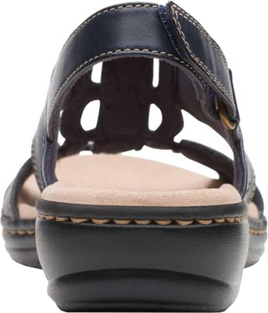 Women's Clarks Leisa Skip Slingback, Navy Full Grain Leather, large, image 4